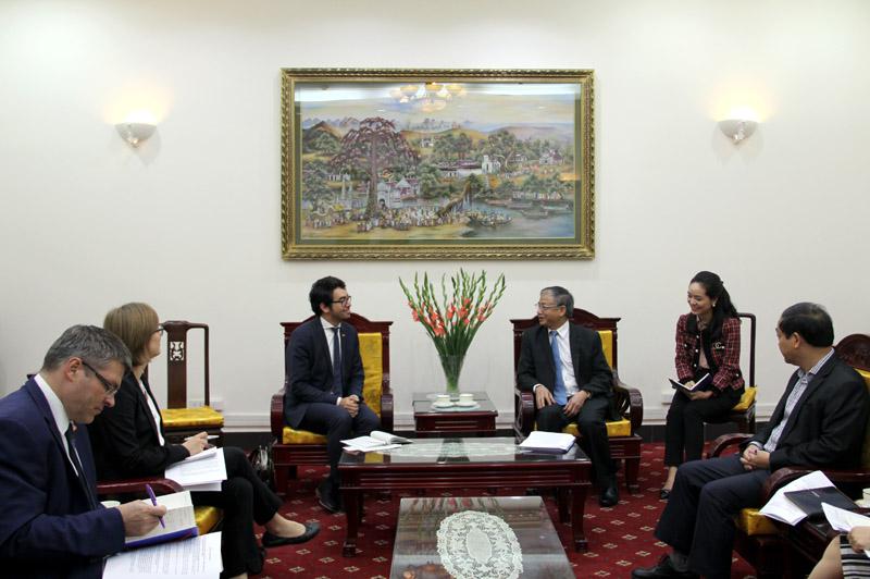 Thứ trưởng Doãn Mậu Diệp tiếp Bộ Kinh tế và Năng lượng CHLB Đức.
