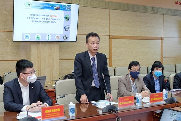 TS Dương Hữu Thái - Viện trưởng Viện Vắc xin và sinh phẩm y tế   Ảnh: Trần Minh
